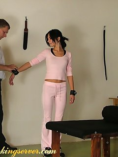 16 of Severe punishement on bad teen girl
