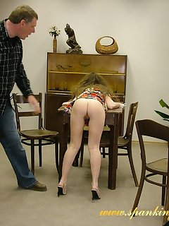 16 of Bad wife spanked on the table