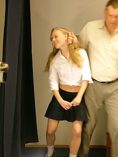 16 of Blonde schoolgirl spanked
