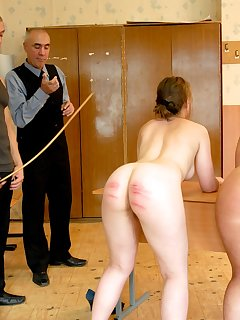 16 of 2 girls in despair - caned severely fully naked