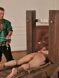 16 of Bound for a strong caning on her bare bottom