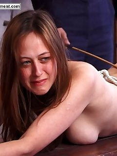 16 of Brutal canings for beautiful russian girls - tied on a table