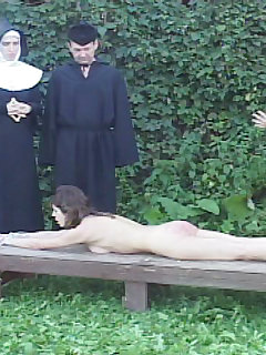 16 of Naked lovely tied to a bench and caned ruthlessly on her blistered and bruised bare bottom
