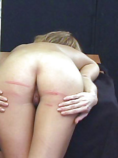 16 of Brutal naked caning for pretty girl in tears - deep stripes and welts