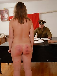 16 of Standing upright fully nude for the Cane
