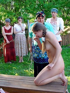 16 of Corporal punishment for a super slim Russian girl