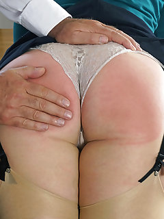8 of Headmaster bares his bottom