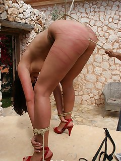 18 of Real hot ass caning in bondage