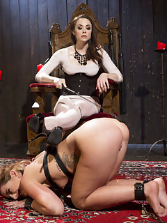 15 of Chanel's lesbian sext toy takes OTK spanking