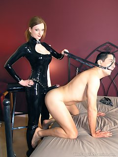 On femdom strap Free Strapon