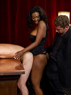 12 of Slave of a perverted ebony fucked by her male guest