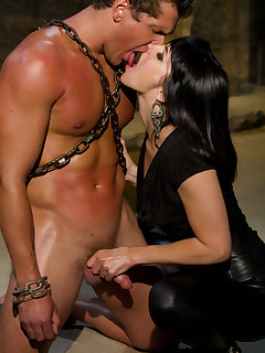 12 of The mistress humiliated a chained slaveboy
