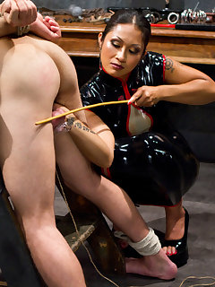 12 of The seductive domina tormented and fucked a slaveboy