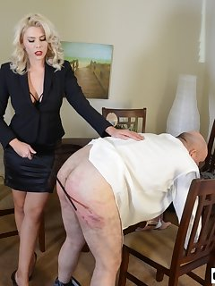 Femdom caning pictures