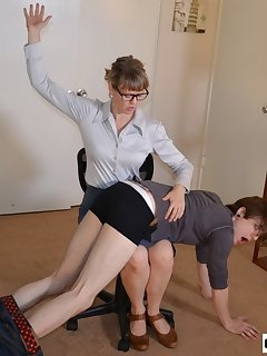 16 of Kade Spanked in Office