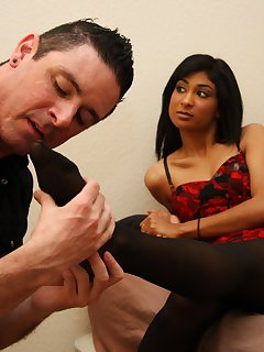 12 of Krysta gets a foot rub and worship on her stockings