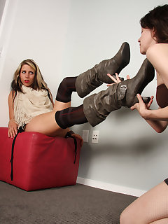 12 of Dahlia crushing the slave girl under her boots