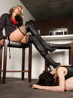 12 of Dominating slave girl under her boots