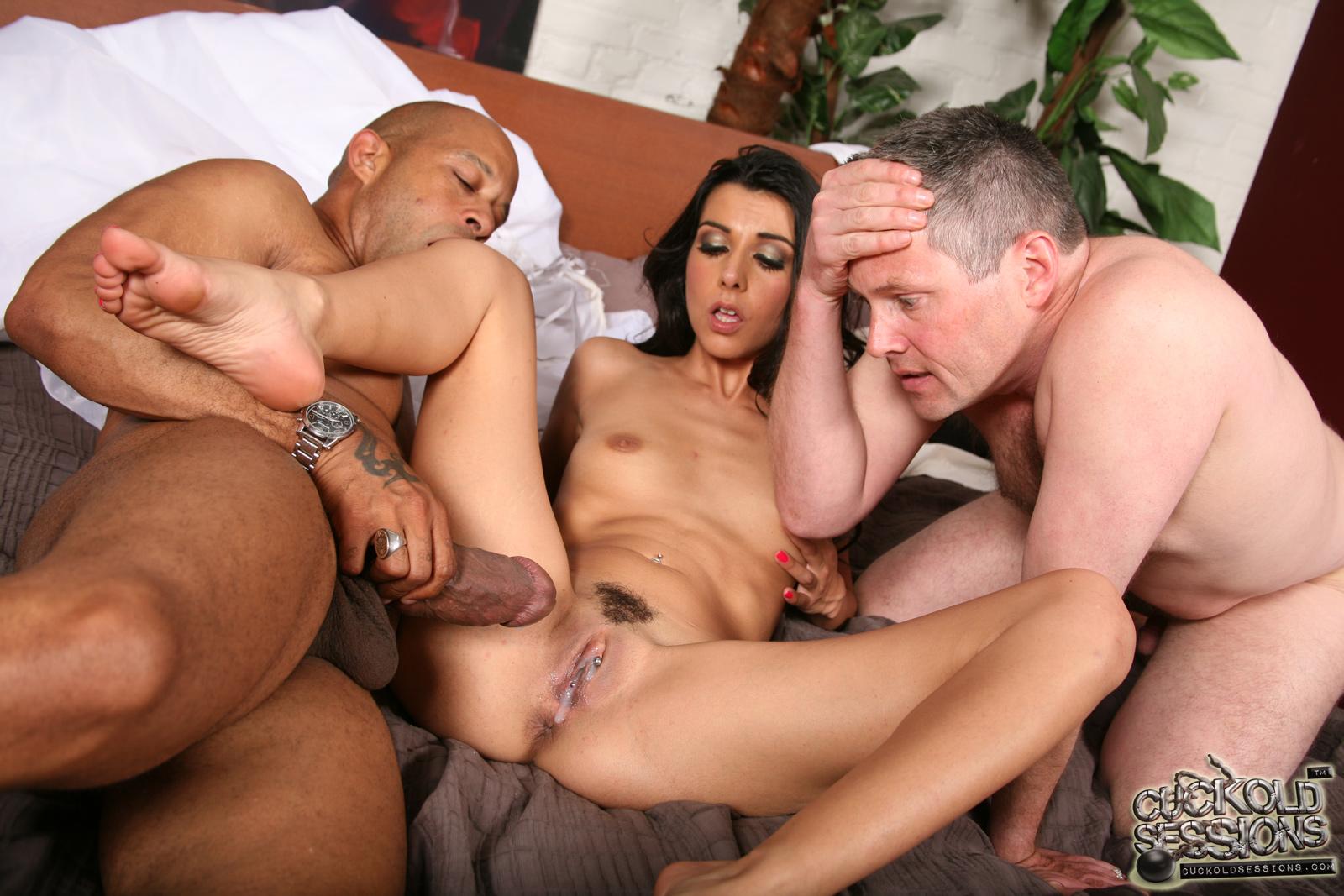 Wife husband cuckold threesome